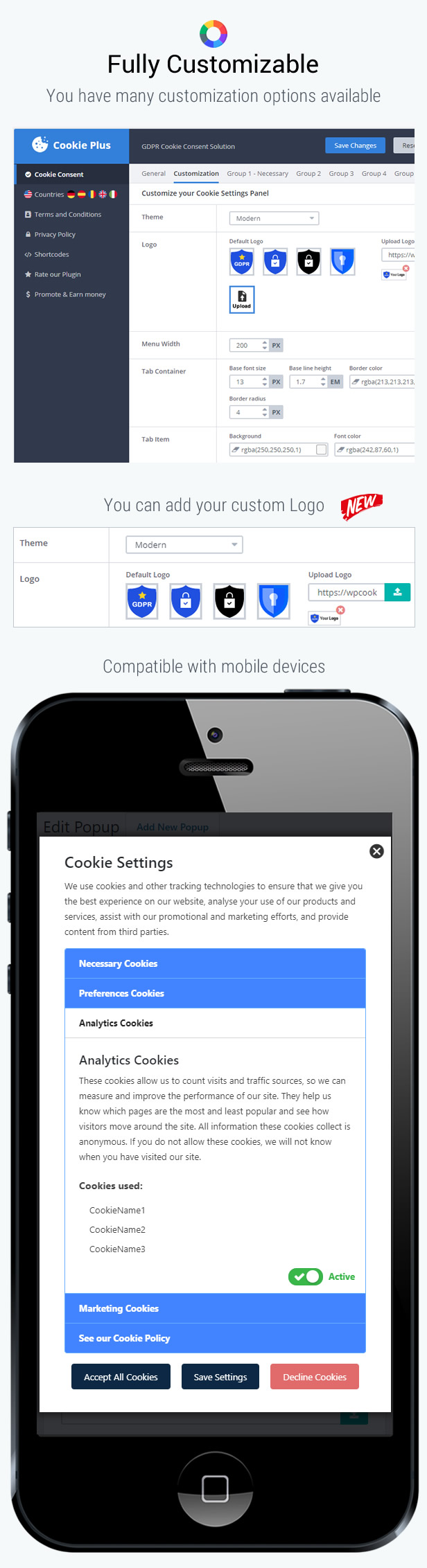 Cookie Plus - GDPR Cookie Consent Solution for WordPress. Master Popups Addon - 12