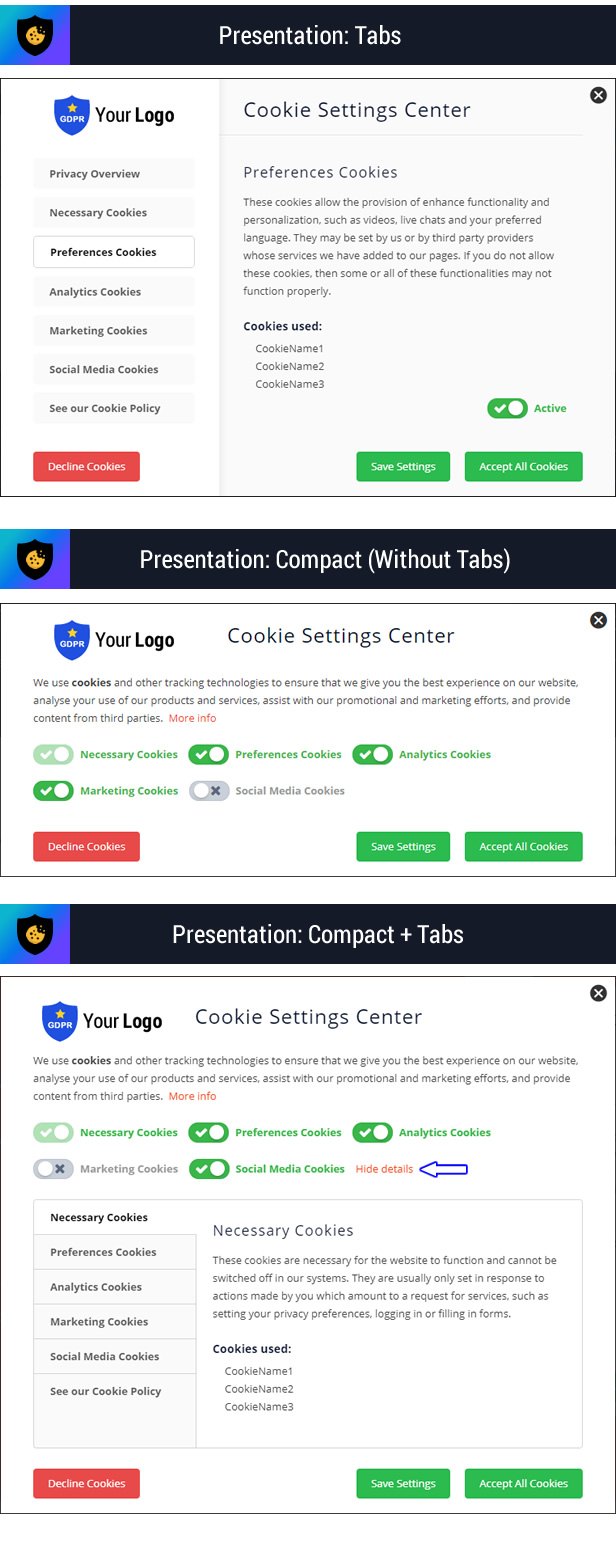 Cookie Plus GDPR - Cookies Consent Solution for WordPress. Master Popups Addon - 11